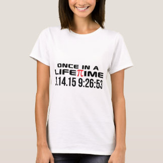 Pi Day 2015 Once in a Lifetime 3.14.15 9:26 Gifts T-Shirt