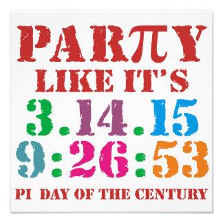 Pi day 2015 poster print art 3.14.15 9:26:53 Pi