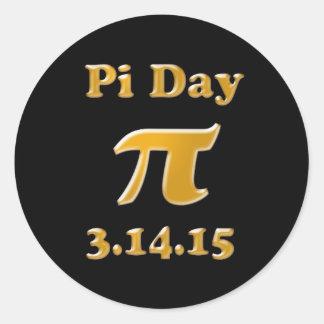 Pi Day 2015 Round Sticker