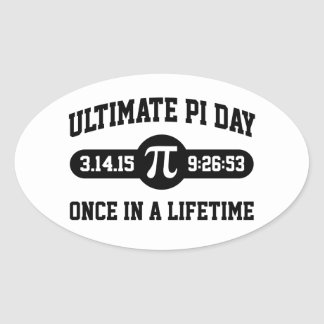 Pi Day 2015 Oval Stickers