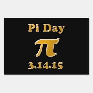 Pi Day 2015 Yard Sign