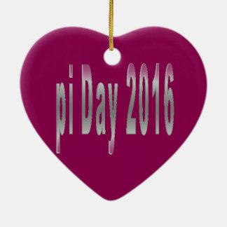 pi Day 2016 math love Ceramic Ornament