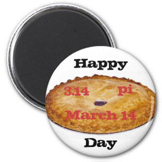 Pi Day 2 Inch Round Magnet