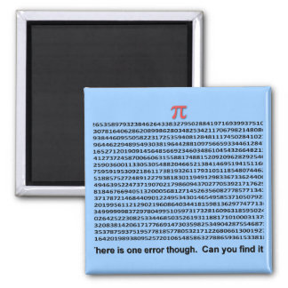Pi Day 2 Inch Square Magnet