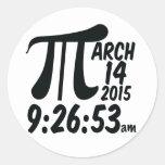 Pi Day 3/14/15 Classic Round Sticker
