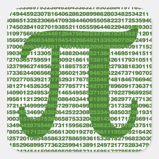Pi Day 3.14 Square Sticker