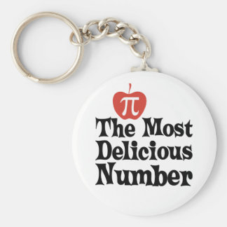 Pi Day 3.14 - The Most Delicious Number Keychain