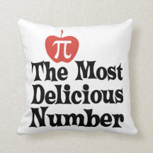 Pi Day 3.14 - The Most Delicious Number Throw Pillows