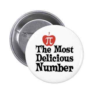 Pi Day 3.14 - The Most Delicious Number Pinback Button