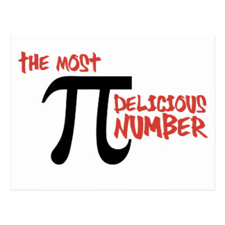 Pi Day 3.14 - The Most Delicious Number Postcard