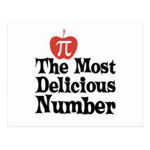 Pi Day 3.14 - The Most Delicious Number Postcards