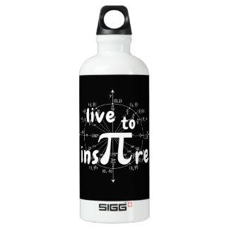 Pi day aluminum water bottle