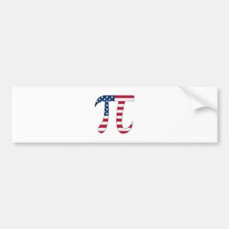 Pi Day American flag, pi symbol Bumper Sticker