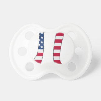 Pi Day American flag, pi symbol Pacifier