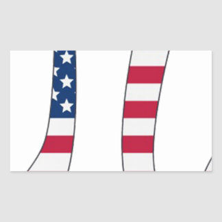 Pi Day American flag, pi symbol Rectangular Sticker