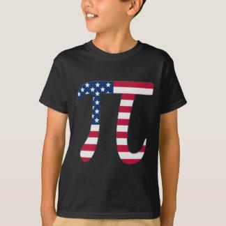 Pi Day American flag, pi symbol T-Shirt