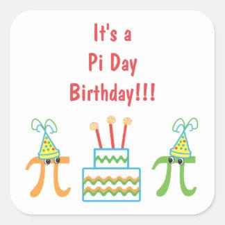 Pi Day Birthday Square Sticker