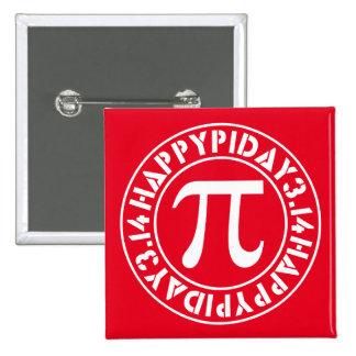 Pi Day 2 Inch Square Button