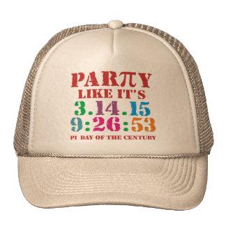 Pi day cap hat ultimate 2015 3.14.15 9:26:53