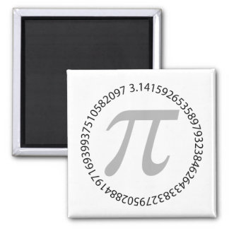 pi day celebration is fun 2 inch square magnet