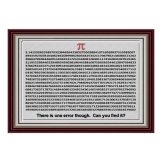 Pi Day Chart for FUN Posters