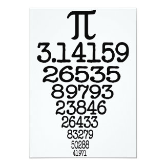 Pi Day compleye 3.14 Card