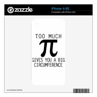 pi day decals for iPhone 4S