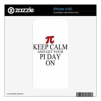 pi day decals for the iPhone 4