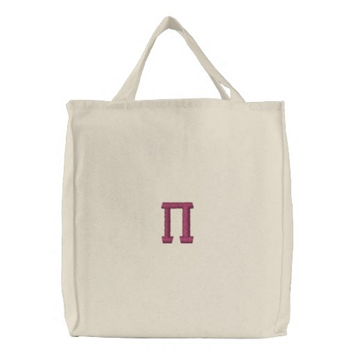 Pi Day Embroidered Tote Bag