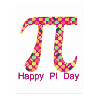 Pi Day Funky Dots Postcard