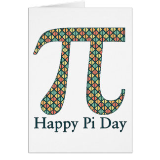 Pi Day Geometric Card