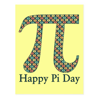 Pi Day Geometric Postcard