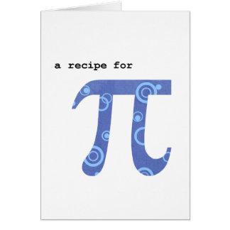 Pi Day Greeting Card, Humor, Recipe for Pi Card