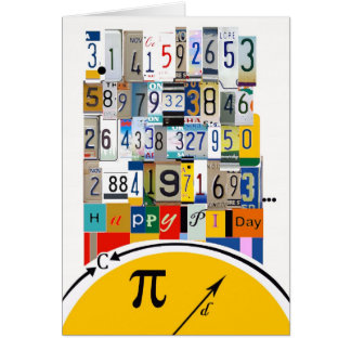 Pi Day Greetings, Crunching Numbers Card