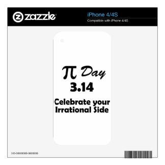 pi day iPhone 4 skin