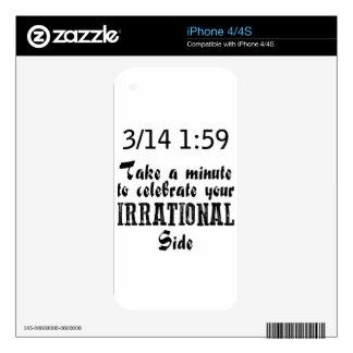 pi day iPhone 4S skins