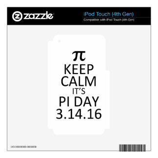 pi day iPod touch 4G decal