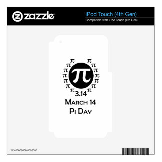 pi day iPod touch 4G skins