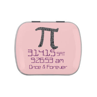 Pi Day March 2015 Custom design Candy Tin