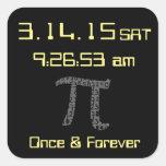 Pi Day March 2015 Custom design Sticker Square Sticker