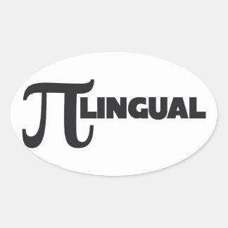 Pi Day Math Geek humor Oval Sticker