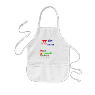 Pi day menu kids' apron