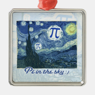 Pi Day Metal Ornament