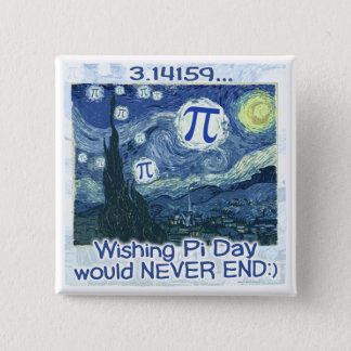 Pi Day Never Ends by Mudge Studios Button