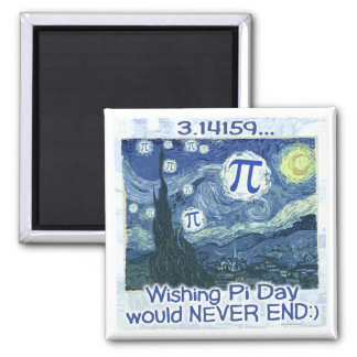 Pi Day Never Ends by Mudge Studios Magnet