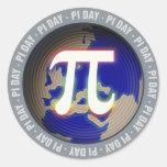 Pi Day on Earth | math Classic Round Sticker