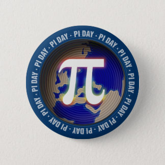 Pi Day on Earth | Math Pinback Button