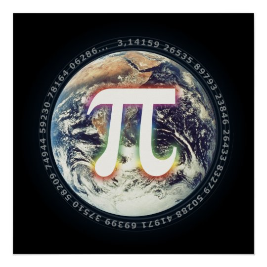 Pi Day on Earth | Math Poster