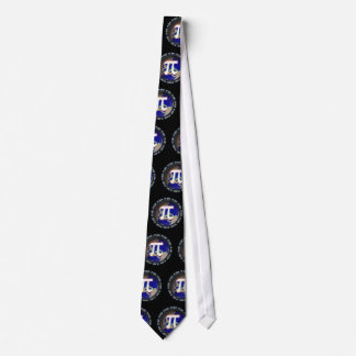 Pi Day on Earth Pattern Neck Tie