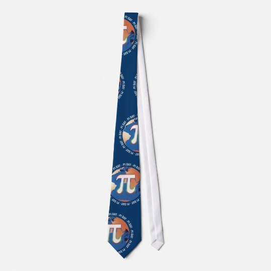 Pi Day on Earth pattern - Tie